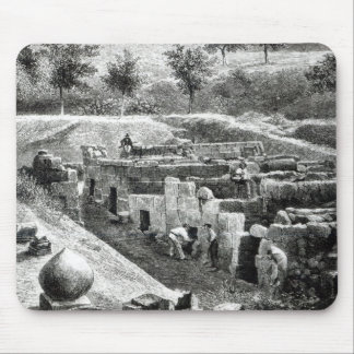 Etruscan Tombs Mouse Pad