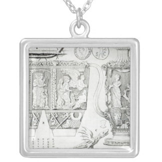 Etruscan Vase and Designs, 1749 Silver Plated Necklace