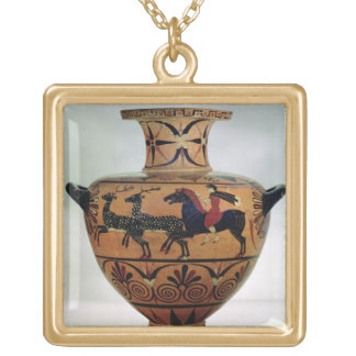 Etrusco-Ionian black-figure hydria depicting a hun Gold Plated Necklace