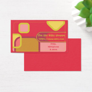 Etsy shop business cards templates zazzle etsy shop color blocks business card reheart Images