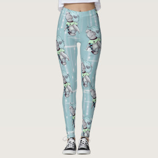 ETTAX CUTE ALIEN CARTOON LEGGINGS
