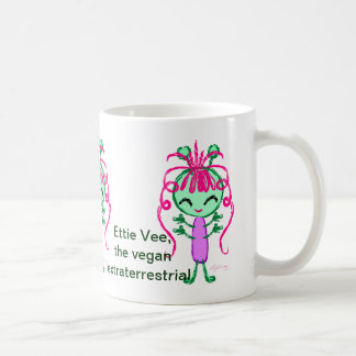 Ettie Vee, the Vegan Extraterrestrial Coffee Mug