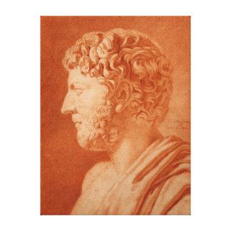 Etude d'apres un Buste Romain by de Mondran Canvas Print