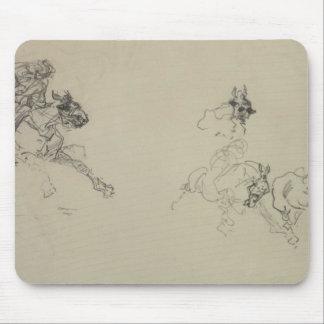 Etude de Chevaux (recto) (lápiz en el papel) Tapetes De Ratones