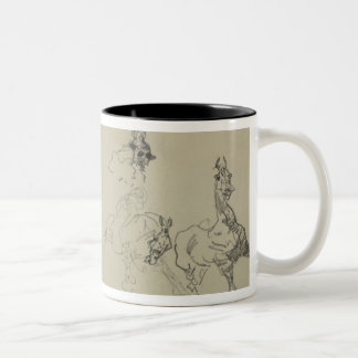 Etude de Chevaux (recto) (pencil on paper) Two-Tone Coffee Mug