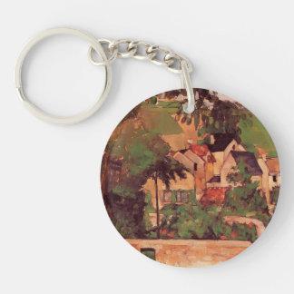 Etude de Paul Cezanne- - Paysage un Auvers Llavero Redondo Acrílico A Una Cara