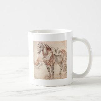 Etude del caballo de Peter Paul Rubens Taza Clásica
