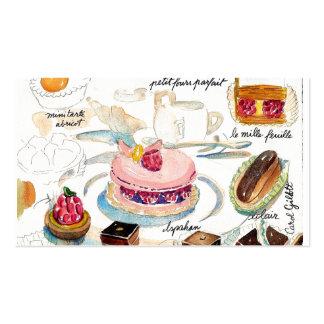 Etude del pastelito plantillas de tarjetas de visita