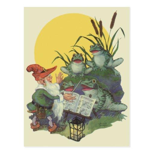 Etude Magazine Cover Art; Frog Choir Postcards