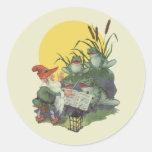 Etude Magazine Cover Art; Frog Choir Round Stickers