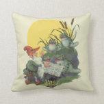 Etude Magazine Cover Art; Frog Choir Throw Pillows