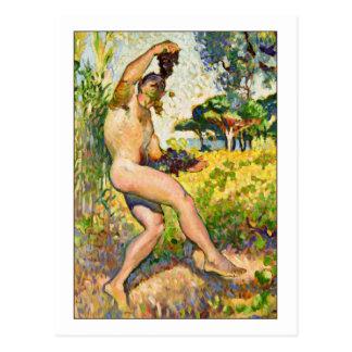 Etude Pour Faune by Henri-Edmond Cross Postcard