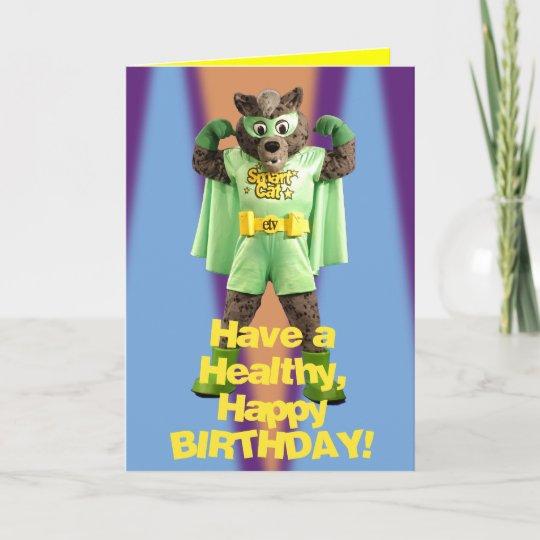 Etv Smart Cat Birthday Card Zazzle