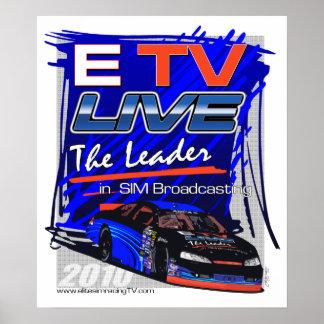 ETV viven el líder en poster de la difusión de Sim
