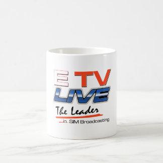 ETV viven logotipo Drinkware Taza Clásica