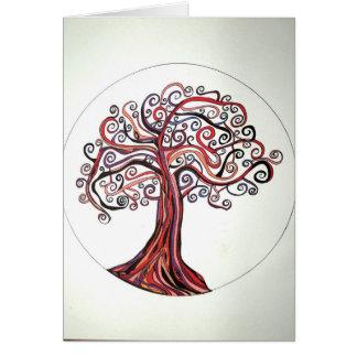 Etz Esh (Tree of Fire) Greeting Card