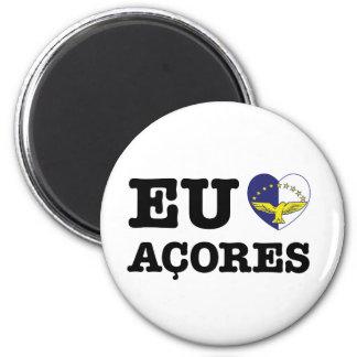 Eu Amo Açores Imán Redondo 5 Cm