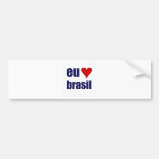 eu amo brasil bumper sticker
