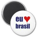 eu amo brasil magnets