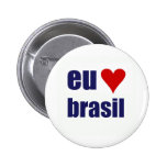 eu amo brasil pinback button