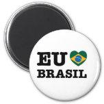 Eu Amo Brasil Refrigerator Magnets