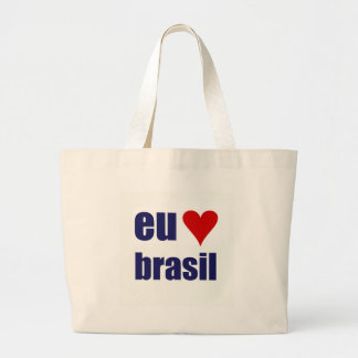 eu amo el Brasil Bolsa Tela Grande