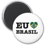 Eu Amo el Brasil Imán Redondo 5 Cm