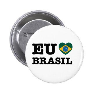 Eu Amo el Brasil Pin Redondo 5 Cm