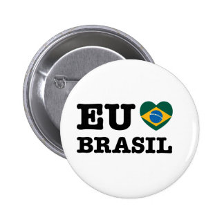 Eu Amo el Brasil Pin Redondo De 2 Pulgadas