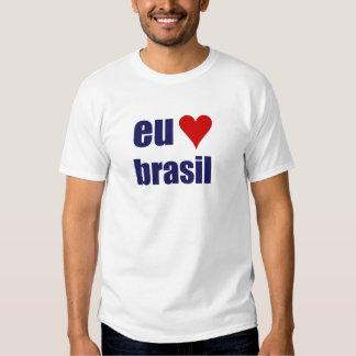 eu amo el Brasil Playera