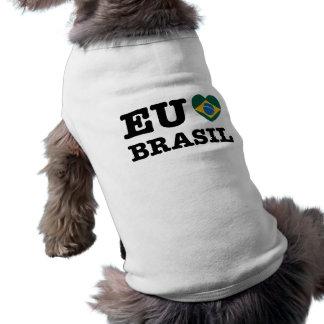 Eu Amo el Brasil Playera Sin Mangas Para Perro