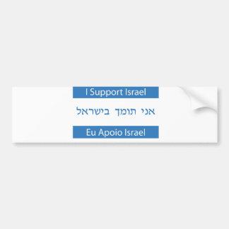 Eu Apoio Israel, apoyo Israel Etiqueta De Parachoque
