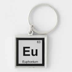 Eu - Euphonium Music Chemistry Periodic Table Keychain at Zazzle
