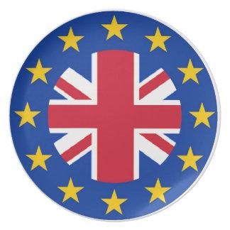 EU - European Union Flag - Union Jack Dinner Plate