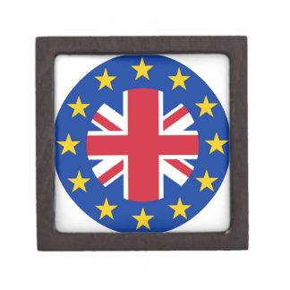 EU - European Union Flag - Union Jack Jewelry Box