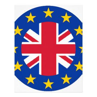 EU - European Union Flag - Union Jack Letterhead