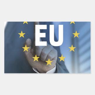EU European Union touchscreen concept Rectangular Sticker