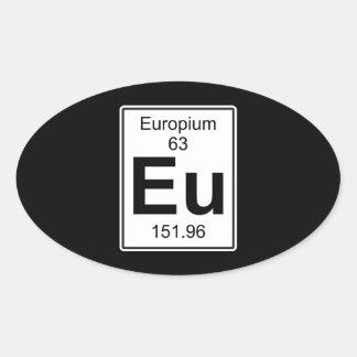 Eu - Europium Oval Sticker