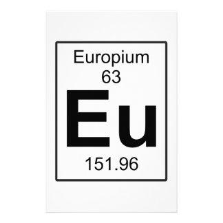 Eu - Europium Stationery