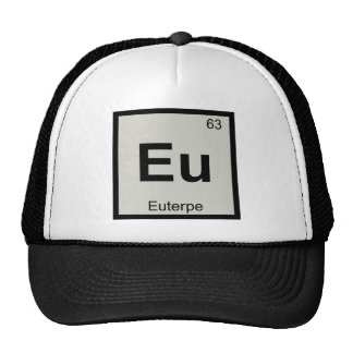 Eu - Euterpe Muse Chemistry Periodic Table Symbol Trucker Hat