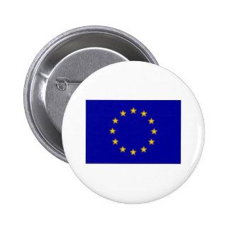 EU Flag Pinback Button