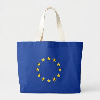 EU Flag (European Union) Large Tote Bag
