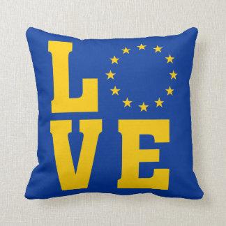 EU Flag, European Union, LOVE Throw Pillow
