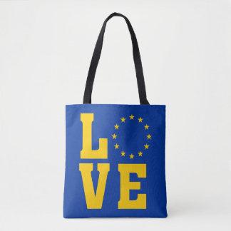 EU Flag, European Union, LOVE Tote Bag