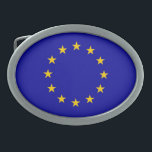 "EU flag Oval Belt Buckle<br><div class=""desc"">Flag and colors of European Union.</div>"