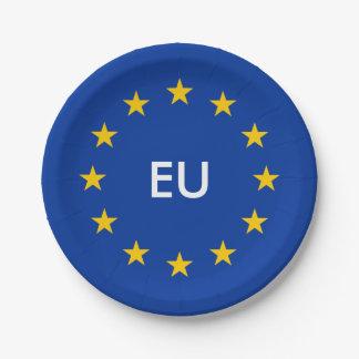 EU flag paper party plates for European Union