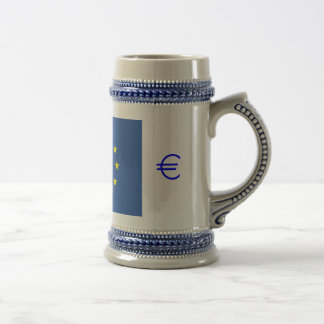 EU flag.with EURO Symbol Beer Stein