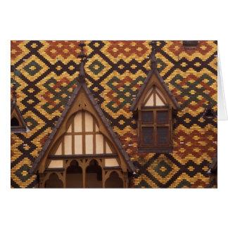 EU, France, Burgundy, Cote d'Or, Beaune. Tiled Greeting Card