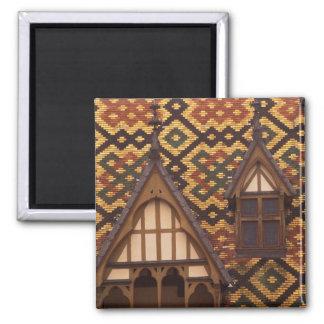 EU, France, Burgundy, Cote d'Or, Beaune. Tiled Magnet