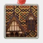 EU, France, Burgundy, Cote d'Or, Beaune. Tiled Ornaments